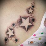 Фото тату звезды на ключице №994 - эксклюзивный вариант рисунка, который хорошо можно использовать для переделки и нанесения как тату звезды на ключицах у девушек