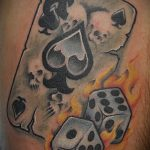 Фото тату игральные кости №485 - прикольный вариант рисунка, который успешно можно использовать для переработки и нанесения как тату игровые кости на руке