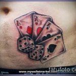 Фото тату игральные кости №765 - уникальный вариант рисунка, который успешно можно использовать для доработки и нанесения как tattoo игральные кости