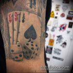 Фото тату игральные кости №565 - эксклюзивный вариант рисунка, который успешно можно использовать для преобразования и нанесения как игральные кости тату на шее