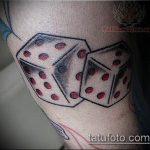 Фото тату игральные кости №86 - крутой вариант рисунка, который удачно можно использовать для преобразования и нанесения как тату игральные кости на запястье