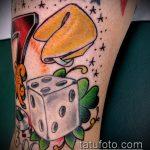 Фото тату игральные кости №155 - крутой вариант рисунка, который удачно можно использовать для переработки и нанесения как тату игральные кости на запястье