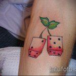 Фото тату игральные кости №84 - достойный вариант рисунка, который хорошо можно использовать для доработки и нанесения как тату игральные кости и карты