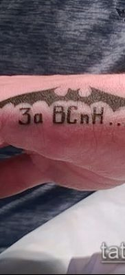 Фото тату летучая мышь в армии – 06062017 – пример – 046 Tattoo bat in the army