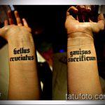 тату на латыни №302 - крутой вариант рисунка, который удачно можно использовать для переделки и нанесения как тату на латыни на спине