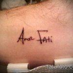 тату на латыни №972 - прикольный вариант рисунка, который удачно можно использовать для переделки и нанесения как тату на латыни на руке
