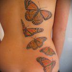 тату на спине №772 - уникальный вариант рисунка, который успешно можно использовать для переработки и нанесения как тату на спине маленькие