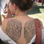 тату на спине №377 - интересный вариант рисунка, который удачно можно использовать для преобразования и нанесения как тату на спине маленькие