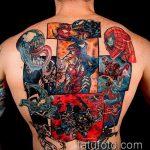 тату на спине №405 - классный вариант рисунка, который легко можно использовать для преобразования и нанесения как тату на спине девушка