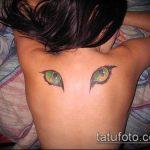 тату на спине №508 - достойный вариант рисунка, который удачно можно использовать для доработки и нанесения как тату на спине крылья