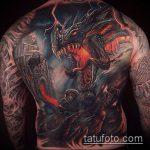 тату на спине №317 - крутой вариант рисунка, который удачно можно использовать для преобразования и нанесения как тату на спине девушка