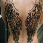 тату на спине №811 - прикольный вариант рисунка, который легко можно использовать для переделки и нанесения как тату на спине цветы