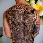 тату на спине №230 - интересный вариант рисунка, который легко можно использовать для преобразования и нанесения как тату на спине маленькие