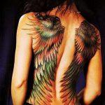 тату на спине №805 - эксклюзивный вариант рисунка, который легко можно использовать для доработки и нанесения как тату на спине женское