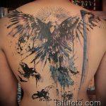 тату на спине №690 - классный вариант рисунка, который хорошо можно использовать для переработки и нанесения как тату на спине маленькие