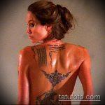 тату на спине №515 - интересный вариант рисунка, который успешно можно использовать для переделки и нанесения как тату на спине абстракция