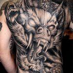 тату на спине №344 - крутой вариант рисунка, который успешно можно использовать для доработки и нанесения как тату на спине цветы