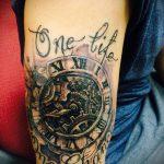 тату одна жизнь №236 - уникальный вариант рисунка, который успешно можно использовать для доработки и нанесения как татуировка одна жизнь