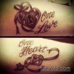 тату одна жизнь №825 - классный вариант рисунка, который легко можно использовать для переделки и нанесения как тату одна жизнь одна любовь