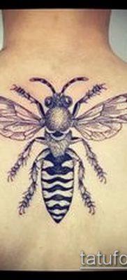 Фото тату оса насекомое – мехенди – 12062017 – пример – 001 Tatu wasp insect