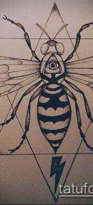 Фото тату оса насекомое – мехенди – 12062017 – пример – 004 Tatu wasp insect