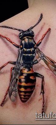 Фото тату оса насекомое – мехенди – 12062017 – пример – 005 Tatu wasp insect