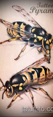 Фото тату оса насекомое – мехенди – 12062017 – пример – 008 Tatu wasp insect