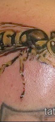 Фото тату оса насекомое – мехенди – 12062017 – пример – 010 Tatu wasp insect