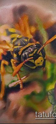 Фото тату оса насекомое – мехенди – 12062017 – пример – 011 Tatu wasp insect