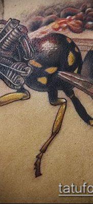 Фото тату оса насекомое – мехенди – 12062017 – пример – 014 Tatu wasp insect