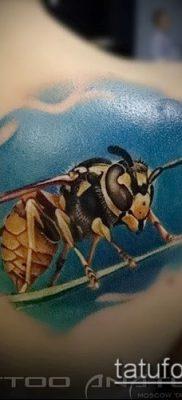 Фото тату оса насекомое – мехенди – 12062017 – пример – 018 Tatu wasp insect