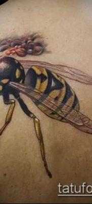 Фото тату оса насекомое – мехенди – 12062017 – пример – 022 Tatu wasp insect