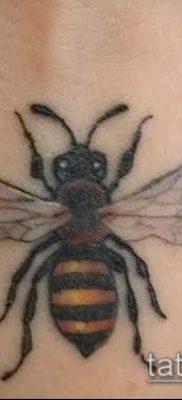 Фото тату оса насекомое – мехенди – 12062017 – пример – 023 Tatu wasp insect