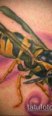 Фото тату оса насекомое – мехенди – 12062017 – пример – 029 Tatu wasp insect
