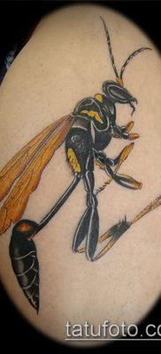 Фото тату оса насекомое – мехенди – 12062017 – пример – 030 Tatu wasp insect