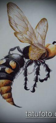 Фото тату оса насекомое – мехенди – 12062017 – пример – 033 Tatu wasp insect