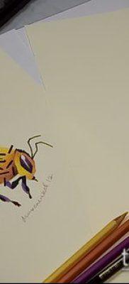 Фото тату оса насекомое – мехенди – 12062017 – пример – 034 Tatu wasp insect