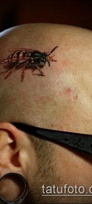 Фото тату оса насекомое – мехенди – 12062017 – пример – 036 Tatu wasp insect