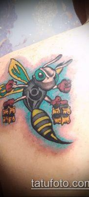Фото тату оса насекомое – мехенди – 12062017 – пример – 037 Tatu wasp insect