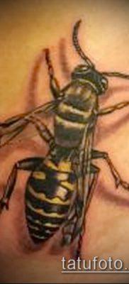 Фото тату оса насекомое – мехенди – 12062017 – пример – 038 Tatu wasp insect