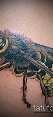 Фото тату оса насекомое – мехенди – 12062017 – пример – 039 Tatu wasp insect