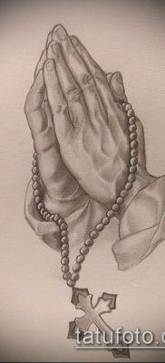 Фото тату руки молитва – 12062017 – пример – 003 Tattoo hands prayer
