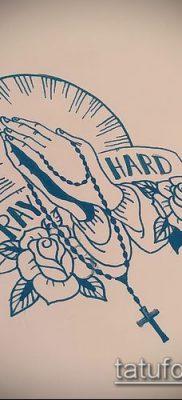 Фото тату руки молитва – 12062017 – пример – 006 Tattoo hands prayer