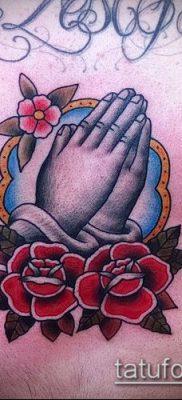Фото тату руки молитва – 12062017 – пример – 008 Tattoo hands prayer