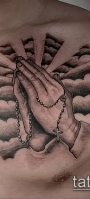 Фото тату руки молитва – 12062017 – пример – 129 Tattoo hands prayer