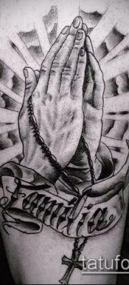 Фото тату руки молитва – 12062017 – пример – 142 Tattoo hands prayer
