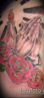 Фото тату руки молитва – 12062017 – пример – 180 Tattoo hands prayer