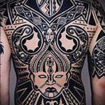 черное тату №724 - достойный вариант рисунка, который удачно можно использовать для переработки и нанесения как черное тату аниме