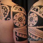 черное тату №788 - крутой вариант рисунка, который удачно можно использовать для доработки и нанесения как черное тату для перекрытия