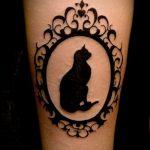 черное тату №639 - эксклюзивный вариант рисунка, который хорошо можно использовать для переделки и нанесения как черное тату во всю руку